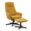 Torino relax armchair with footrest