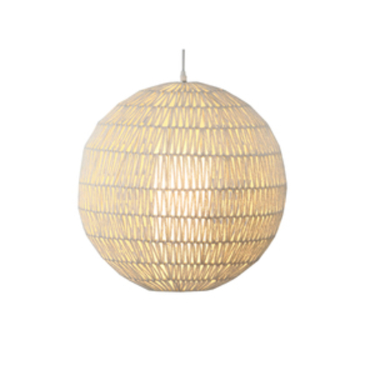 Cord sphere suspension lamp