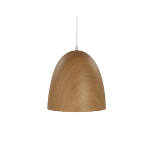 Wood suspension lamp