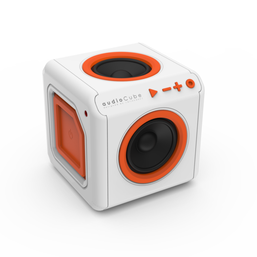 Portable bluetooth audio cube