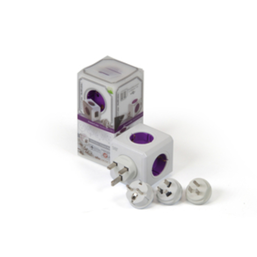 Purple universal PowerCube + 2 usb docking station