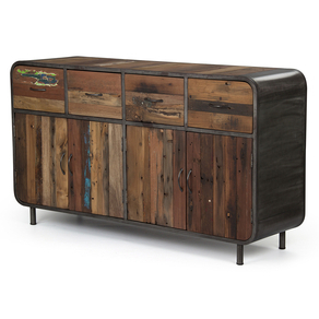 Sixties round sideboard