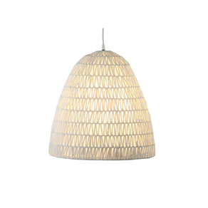 Cord conical suspension lamp